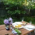 ニュージャージーの友人宅の庭